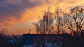 Time lapse autumn sunset stock video