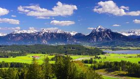Time lapse of beautiful landscape in Bavaria stock video footage