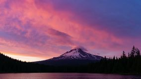 Time Lapse of Mt Hood at Sunset stock video