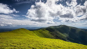 Time lapse beautiful mountains and clouds nature landscape stock video