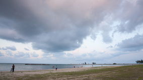 Time-lapse big cloud move pass over the sea stock video footage