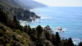 Time Lapse of the Big Sur California Coastline stock video footage