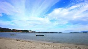 Time lapse  with boats on the beach in Koh Samui Stock Images