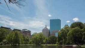 Time lapse Boston Public Garden Royalty Free Stock Images
