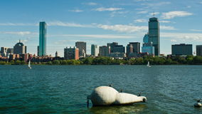 Time Lapse of Boston Skyline, Massachusetts, USA stock footage