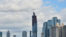 Time Lapse of Building Under Construction stock video footage