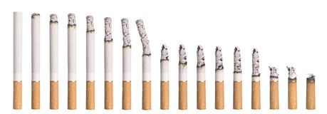 Time lapse - Burning cigarette Royalty Free Stock Image