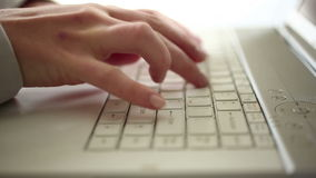 Time lapse of businesswoman typing on pc HD 1080i