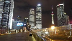 Time lapse,busy pedestrian & traffic,shanghai center & orient pearl TV tower. Time lapse,busy pedestrian & traffic,shanghai center & orient pearl TV stock footage