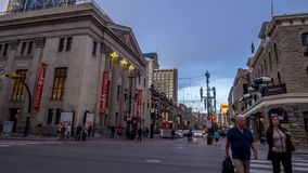 Time lapse of busy Stephen Avenue stock video