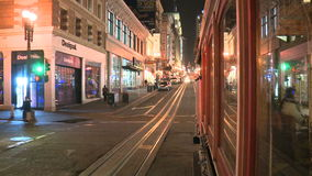 Time Lapse of Cable Car San Francisco at Night stock video