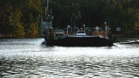 Time lapse of the cable ferry across the daintree river. A time lapse of the cable ferry across the daintree river in far nth queensland stock footage