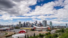 Time-lapse of the Calgary skyline stock footage