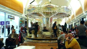 Time Lapse Carousel Merry Go Round stock video footage
