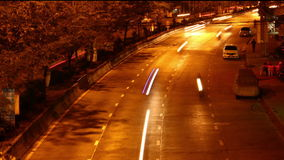 Time lapse cars at night stock video footage