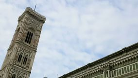 Time-lapse of cathedral of Santa Maria del Fiore, Firenze, italy with blue. Sky and stock video