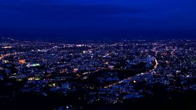 Time lapse of Chiang Mai city View Royalty Free Stock Images
