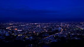 Time lapse of Chiang Mai city View tilt down Royalty Free Stock Photography