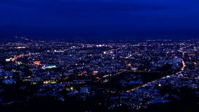 Time lapse of Chiang Mai city View zoom in Stock Photo