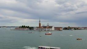 Time lapse of the Church of San Giorgio Maggiore in Venice, Italy 4k