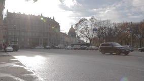 Time lapse Cinestyle roads Saint Petersburg stock video footage