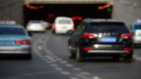 Time lapse City Traffic; Blurred Cars heading to a tunnel. stock video