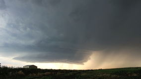 Time lapse clip of an approaching supercell thunderstorm stock video footage