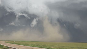 Time lapse clip of intense storm stirring up dust cloud stock video