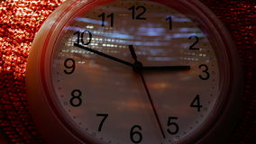 Time Lapse Clock, 6 Hours(From 12 To 6), With Lights And Shadows Static Shot. Clock minute and hour hands moving fast.The clock is one of the oldest human stock footage