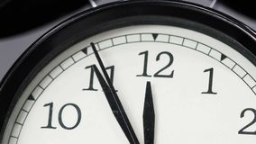 Time lapse of clock showing at noon. Time lapse of the clock showing at noon stock footage