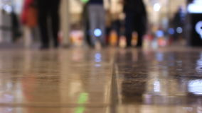Time lapse. Close-up feet walking people in the mall stock video footage