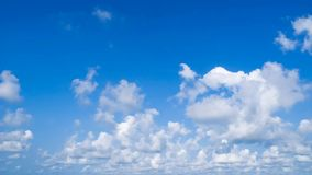 Time lapse cloud in blue sky stock footage