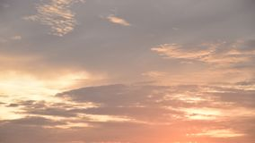 Time lapse of cloud with sunset light color changing at sunset stock footage