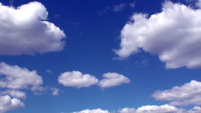 Time Lapse Clouds And Blue Sky HD Stock Photo