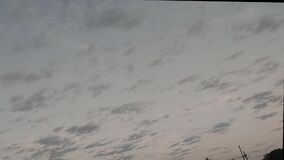 Time lapse of clouds at dusk of Latin American skies 2