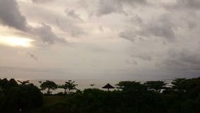 Time lapse . Clouds move over the seashore on the tropical island stock video footage