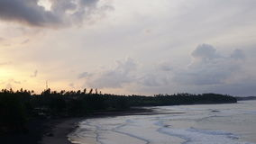 Time lapse . Clouds move over the seashore on the tropical island stock footage