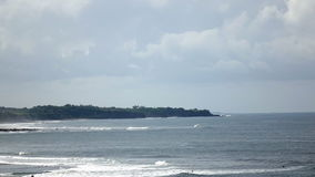 Time lapse. Clouds move over the seashore on the tropical island stock footage