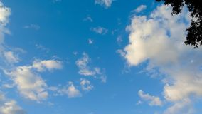 Time lapse of clouds movement in blue sky stock video footage