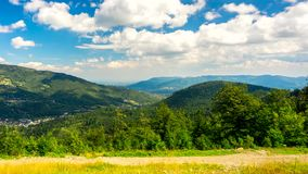 Time lapse - clouds over Beskid Mountains. stock video