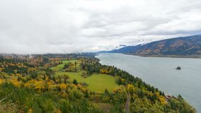 Time lapse of clouds over Cape Horn in WA State along Columbia River Gorge fall season 4k stock video