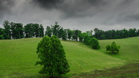 Time Lapse Clouds over Cow Pasture stock video