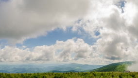 Time Lapse of Clouds over Mountains stock footage
