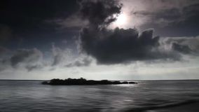 Time lapse. The clouds over the sea stock footage