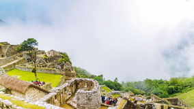 Time lapse of clouds in rainy season on Machu Picchu stock video