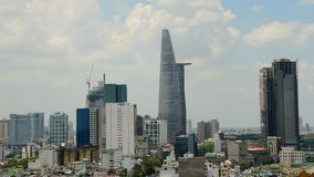 Time Lapse of Clouds and Shadows Passing over Ho Chi Minh City (Saigon) stock video