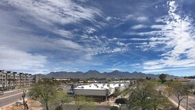 Time-lapse of cloudscape passing through North Scottsdale facing  McDowell Mountain