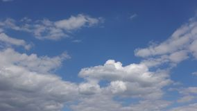 Time-lapse, Cloudy sky on a Sunny summer day. Clean air and atmosphere of freedom.  stock video