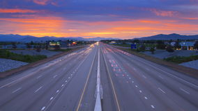 Time lapse colorful road rush stock video footage