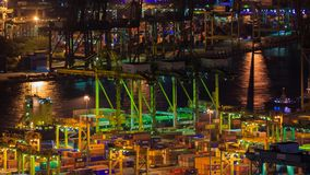 Time-lapse of Commercial port of Singapore